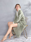 Robes for Women Long Plush Fleece Robe Shu Velveteen Flannel Soft Warm Nightgown