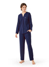 Pajama Set For Women Long Sleeve Modal and Cotton Loungewear Nightwear