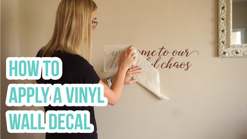 How to Apply a Vinyl Wall Decal