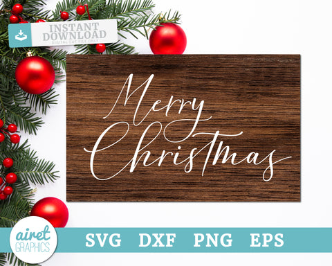 Merry Christmas - Digital Cut File Download SVG EPS DXF PNG