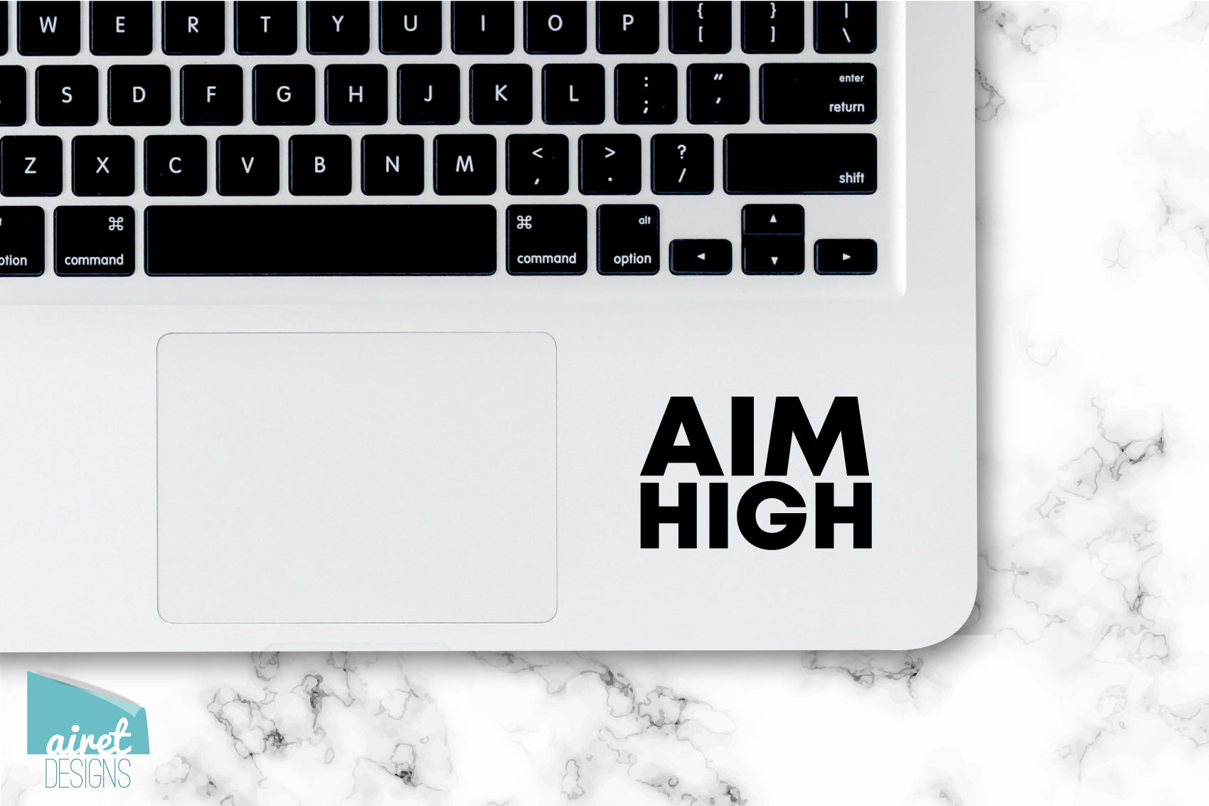 AIM HIGH - Motivational Uplifting Happy Quote Inspiring Success Goals Sticker for Laptop Car Window Tablet Iphone Cell Phone Case Tumbler