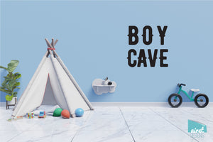 Boy Cave - Vinyl Decal Wall Art Decor Sticker - Nursery Baby Newborn Kid Boy Childrens Child Room Decoration v2