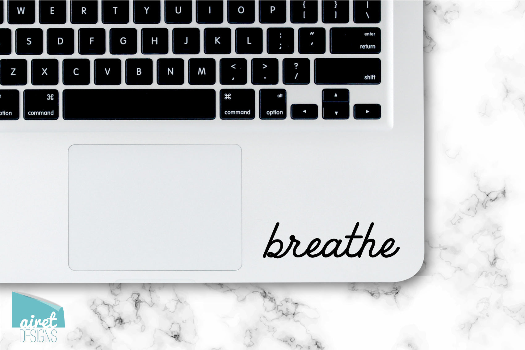 breathe - Vinyl Decal - Calming Peace Anxiety Quote Inspiring Success Goals Sticker for Laptop Car Window Tablet Cell Phone Case Tumbler Cup
