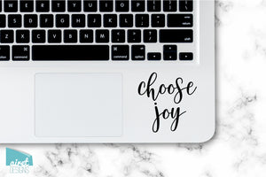 Choose Joy - Motivational Uplifting Happy Quote Inspiring Success Goals Sticker for Laptop Car Window Tablet Iphone Cell Phone Case Tumbler