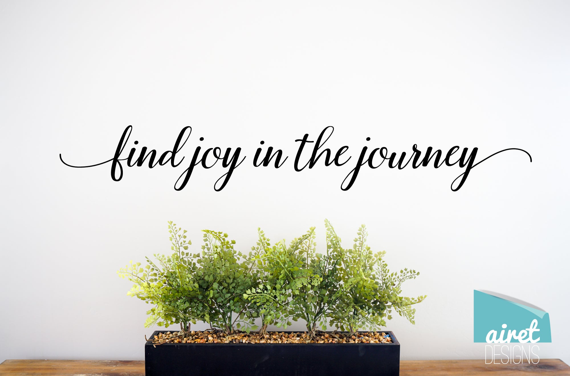 Find Joy In the Journey - Vinyl Decal Inspirational Wall Decor Sticker Sign v2