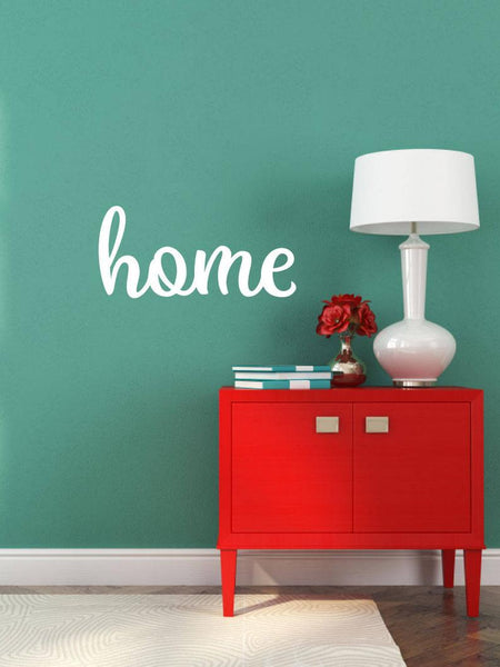 Home - Vinyl Decal Wall Art Decor Sticker - Home Decor House Living Area House Warming Welcome Family v3