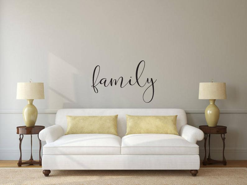 Family - Vinyl Decal Wall Art Decor Sticker - Home Decor Living Area Bedroom House Warming Family Entry Hall Welcome