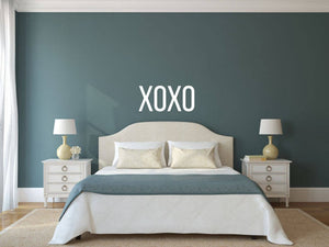 XOXO - Vinyl Decal Wall Art Decor Sticker - Home Decor House Living Area House Warming Bedroom Welcome Family Entry Hall Nursery v3