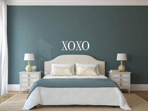 XOXO - Vinyl Decal Wall Art Decor Sticker - Home Decor House Living Area House Warming Bedroom Welcome Family Entry Hall Nursery v4