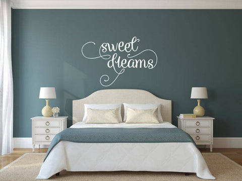 Sweet Dreams - Vinyl Decal Wall Art Decor Sticker - Home Decor Bedroom Child's Bedroom Nursery Baby Girl's Bedroom Guest Room Guest Area v3