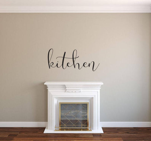 Kitchen - Vinyl Decal Wall Decor Sticker DIY Wood Sign Lettering Home Sticker A