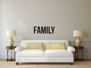 Family - Vinyl Decal Wall Art Decor Sticker - Home Decor Living Area Bedroom House Warming Family Entry Hall Welcome v2