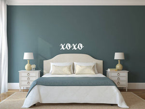 XOXO - Vinyl Decal Wall Art Decor Sticker - Home Decor House Living Area House Warming Bedroom Welcome Family Entry Hall Nursery
