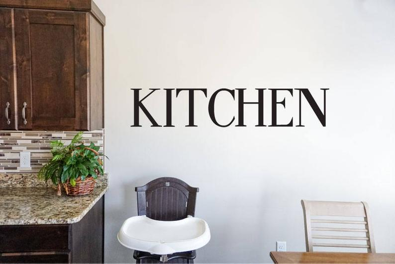 Kitchen - Vinyl Decal Wall Decor Sticker DIY Wood Sign Lettering Home Sticker v2