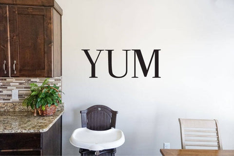 Yum - Vinyl Decal Wall Art Decor Sticker - Home Decor Kitchen Dining Area House Oven Fridge Sink Fun Cooking Bar Table Simple Kitchen decor