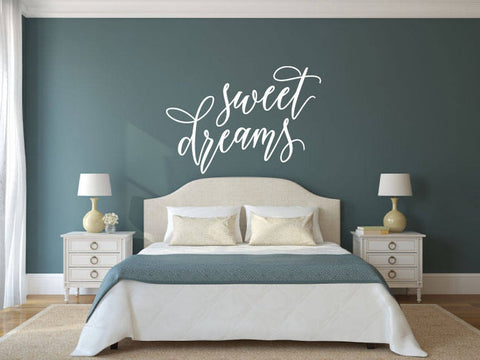 Sweet Dreams - Vinyl Decal Wall Art Decor Sticker - Home Decor Bedroom Child's Bedroom Nursery Baby Girl's Bedroom Guest Room Guest Area
