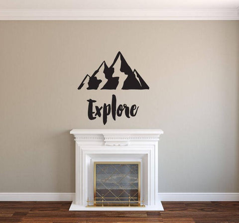Explore - Vinyl Decal Wall Art Decor Sticker - Home Decor Cabin Study Office Family Room Living Area Entryway Children's Room