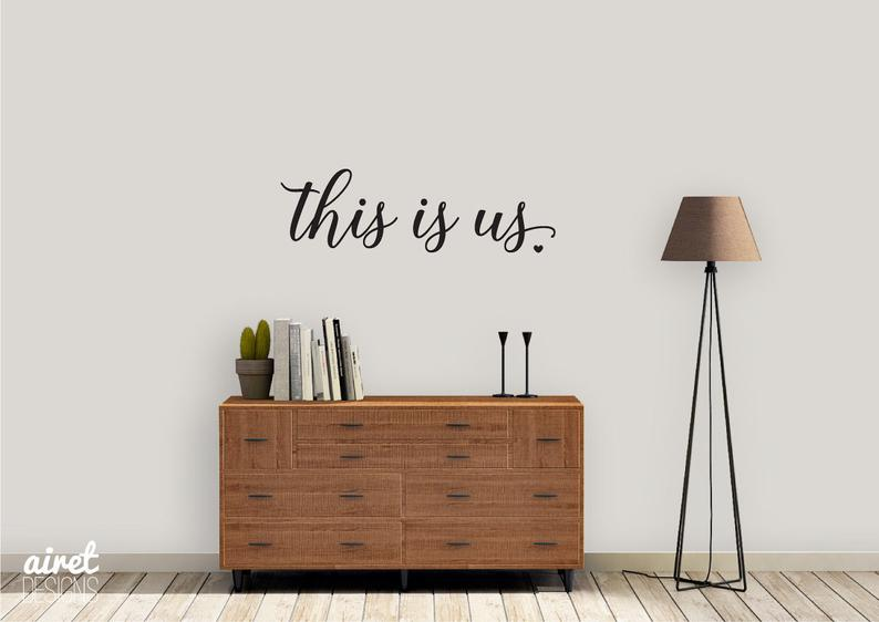 This is Us - Vinyl Decal Wall Art Decor Sticker - Photo Gallery Story Wall Home Decor House Living Family Entry Hall Decoration
