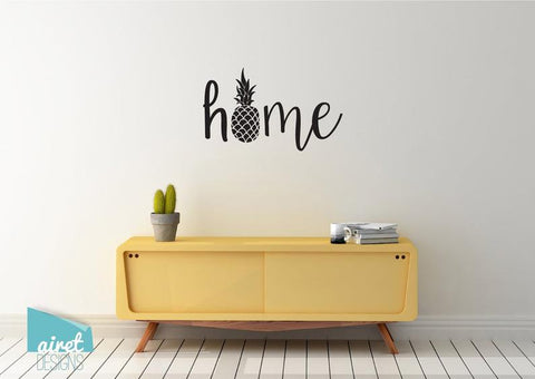 Home Pineapple - Vinyl Decal Wall Art Decor Sticker - Tropical Summer Home Decoration Sticker