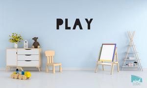 Play - Vinyl Decal Wall Art Decor Sticker - Nursery Baby Newborn Kid Boy Children Child Room Decoration