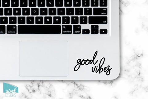Good Vibes - Motivational Uplifting Happy Quote Inspiring Success Goals Sticker for Laptop Car Window Tablet iPhone Cell Phone Case Tumbler
