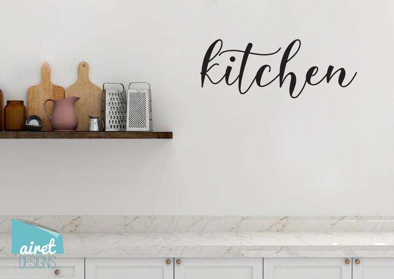 Kitchen - Vinyl Decal Wall Decor Sticker DIY Wood Sign Lettering Home Sticker v2a