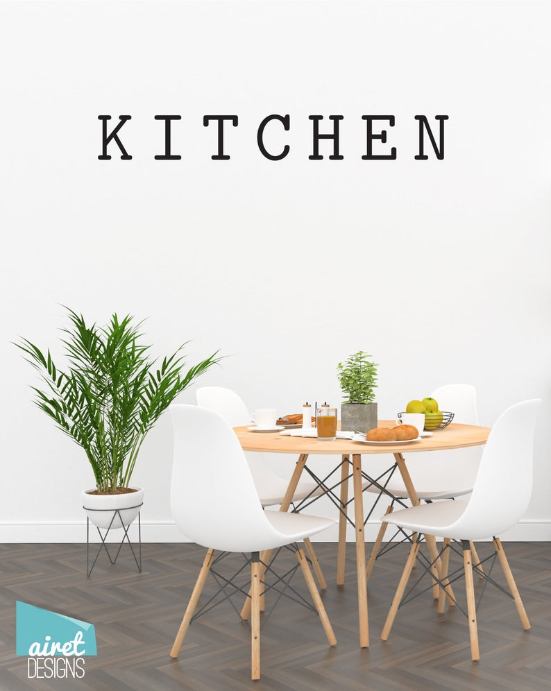 Kitchen - Vinyl Decal Wall Decor Sticker DIY Wood Sign Lettering Home Sticker v3a