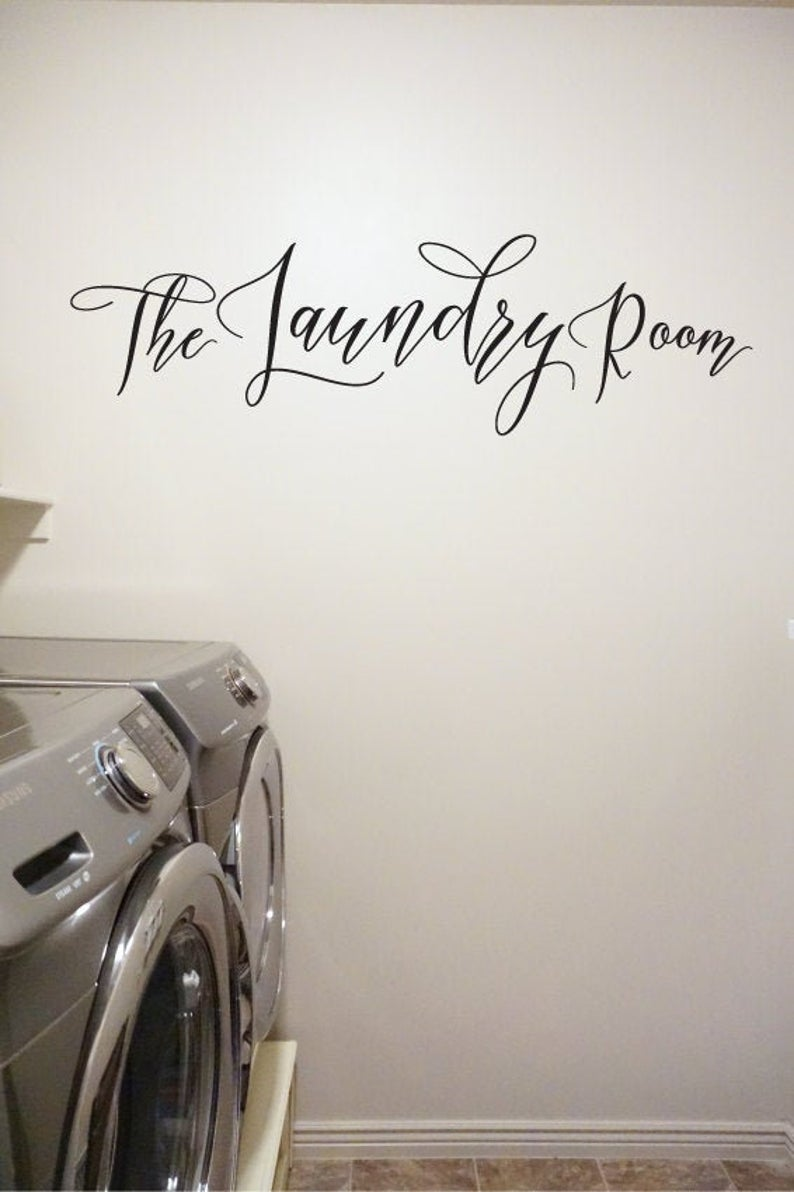The Laundry Room - Vinyl Decal Wall Art Decor Sticker - Home Decor Laundry Mud Room Pantry Closet Craft Clean Kitchen Clothes v1a