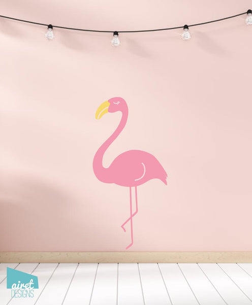 Flamingo - Vinyl Decal Wall Art Home Decor Sticker - Girl Baby Nursery Kid Child Tween Room Decoration v2