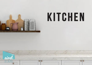 Kitchen - Vinyl Decal Wall Decor Sticker DIY Wood Sign Lettering Home Sticker v5