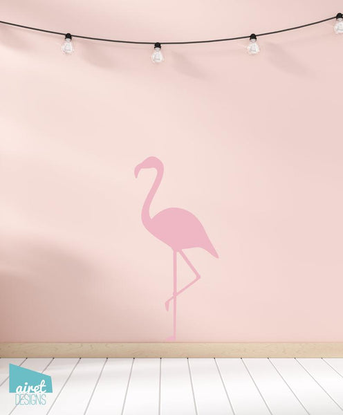 Flamingo - Vinyl Decal Wall Art Home Decor Sticker - Girl Baby Nursery Kid Child Tween Room Decoration
