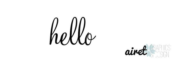 """Hello"" -  Front Door Window Vinyl Decal Sign V2"