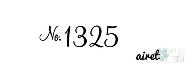 House Number Front Door Vinyl Decal Sign