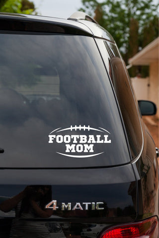 Football Mom Vinyl Decal Sticker