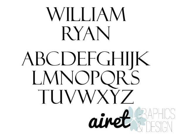 Name - Vinyl Decal Wall Art Decor for Nursery Children Boys Babies Room