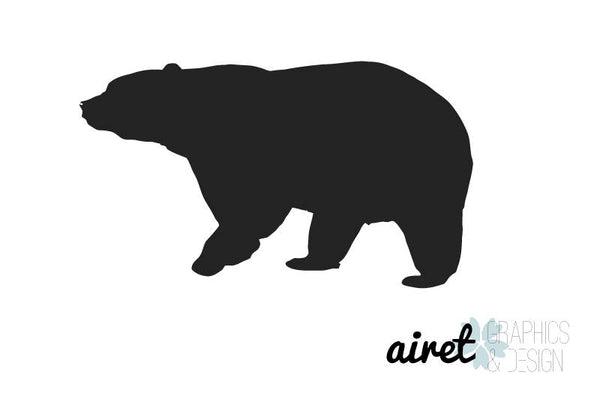 Bear - Vinyl Decal Wall Art Decor for Forest Animal Nursery Children Babies