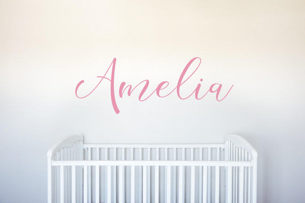 Name - Personalized Custom Vinyl Decal Wall Art Decor for Nursery Children Girls Babies Room