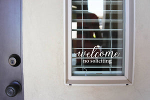 Welcome No Soliciting -  Sign Vinyl Decal Sticker v2