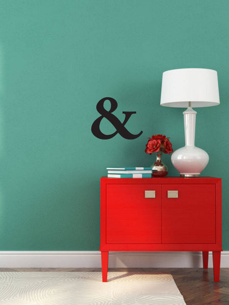 "The ""&"" Key - Vinyl Decal Wall Art Decor Sticker - Home Decor House Living Area House Warming Welcome Family Children Kitchen Entry Office"