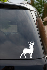 Deer Buck Antlers Rack Hunting Window Vinyl Decal Sticker