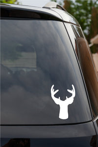 Deer Buck Head Antlers Rack Window Vinyl Decal Sticker