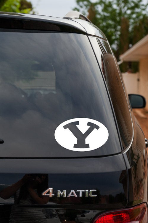 Y BYU Brigham Young University Logo Oval Football Helmet Cougars Vinyl Decal Sticker