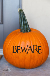 Beware Halloween Fall Autumn Decor Pumpkin Decal Vinyl Sticker