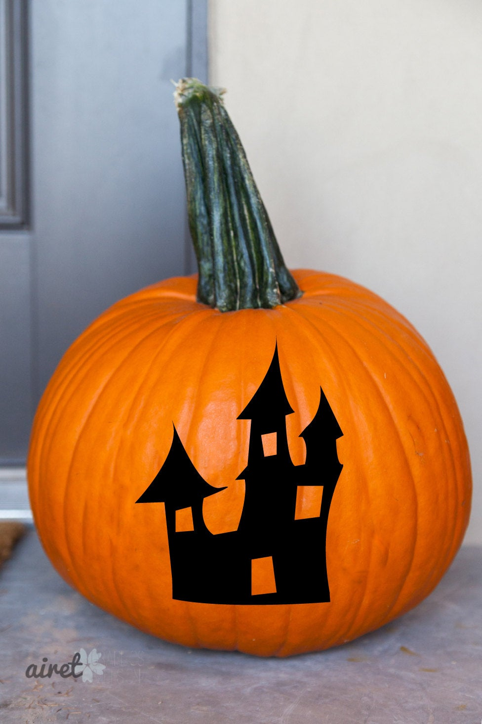 Haunted House Halloween Fall Autumn Decor Pumpkin Decal Vinyl Sticker