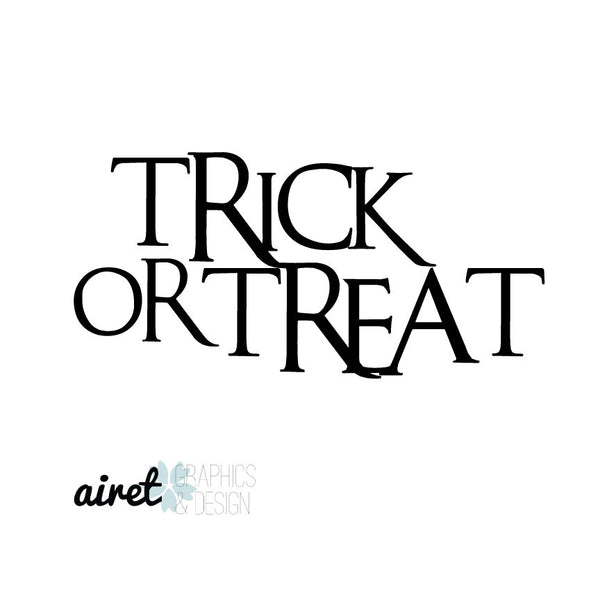 Trick Or Treat Halloween Fall Autumn Decor Pumpkin Decal Vinyl Sticker