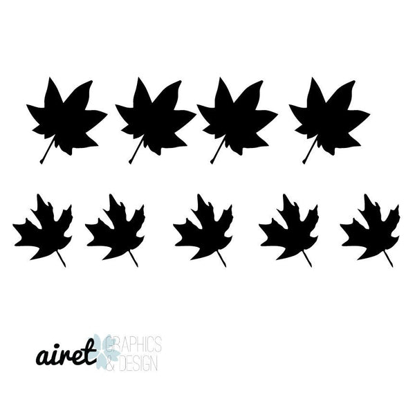 Fall Leaves  - Halloween Fall Autumn Decor Pumpkin Decal Vinyl Sticker
