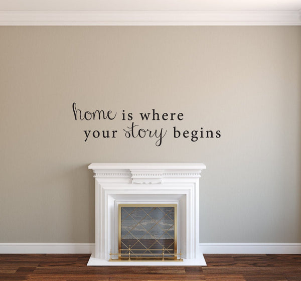 Home is Where Your Story Begins - Home Decor - Picture Photo Collage Home Vinyl Decal