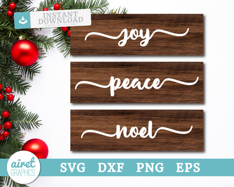 joy peace noel - Digital Cut File Download SVG EPS DXF PNG