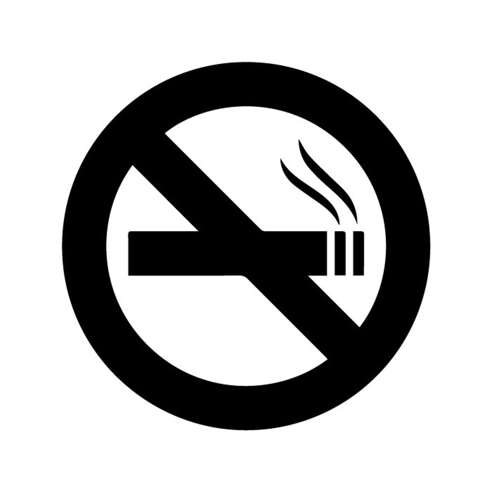 No Smoking Sign Logo Icon Vinyl Decal Sticker - Choose Size & Color v2