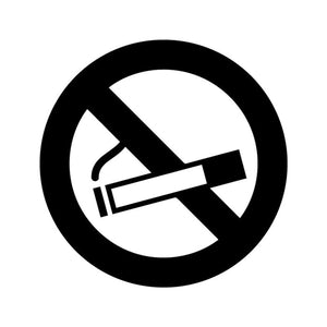 No Smoking Sign Logo Icon Vinyl Decal Sticker - Choose Size & Color